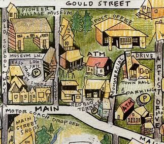 Detail of a Nashville, Indiana Map