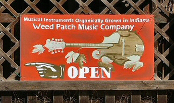 Weed Patch Music Company Sign
